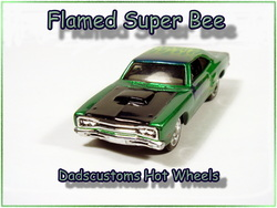 69 Super bee custom hot wheels airbrushed diecast car