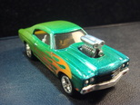 Custom airbrushed 70 chevelle ss diecast car