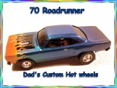 70 Roadrunner Custom Hot wheels airbrushed diecast car