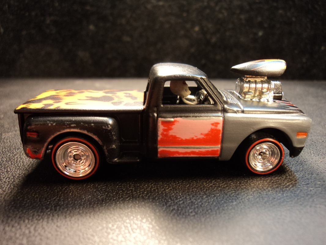 Custom 69 Chevy blown Rat Rod truck - Dads Custom Creations and Airbrush