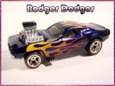 Rodger Dodger custom Hot wheels airbrushed diecast car