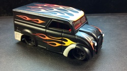custom hot wheels rat rod dairy delivery