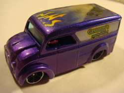 Grumpy's custom hot wheels dairy delivery airbrushed diecast car