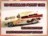 59 caddy custom Hot wheels airbrushed diecast car