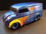 Custom airbrushed dairy delivery hot wheels diecast car
