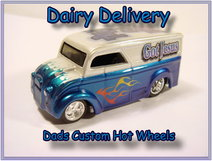 custom hot wheels dairy deliveries airbrushed diecast cars
