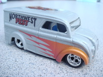 Flamed custom airbrushed dairy delivery hot wheels die cast ca