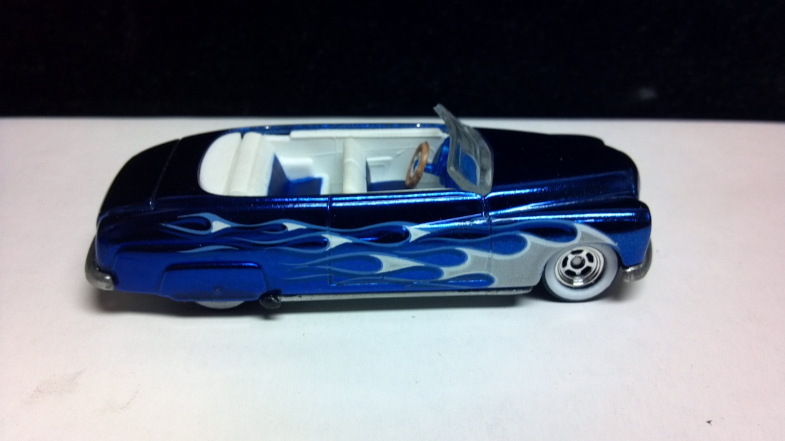 Custom hot wheels 49 merc, custom painted, ford mercury,convertible,