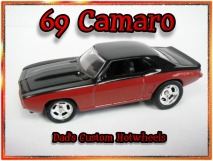 custom hot wheels 69 camaro airbrushed diecast car