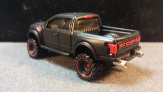 custom hot wheels 17 ford raptor murdered out dual exhaust cannons