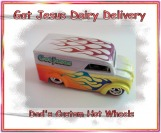 custom, customized hot wheels dairy delivery airbrushed diecast car