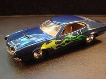 customized 72 gran torino sport hot wheels die cast car