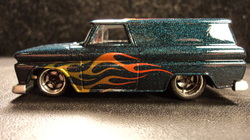 custom hot wheels, hot wheels,64 gmc panel,airbrushed, diecast