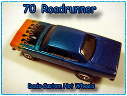 70 Roadrunner custom airbrushed Hot wheels diecast car